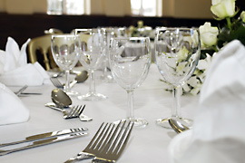Wedding Catering table setting