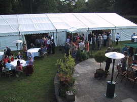 Surprise Birthday event catering and marquee